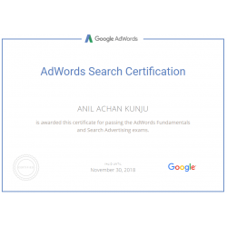 Google Adwords promotion